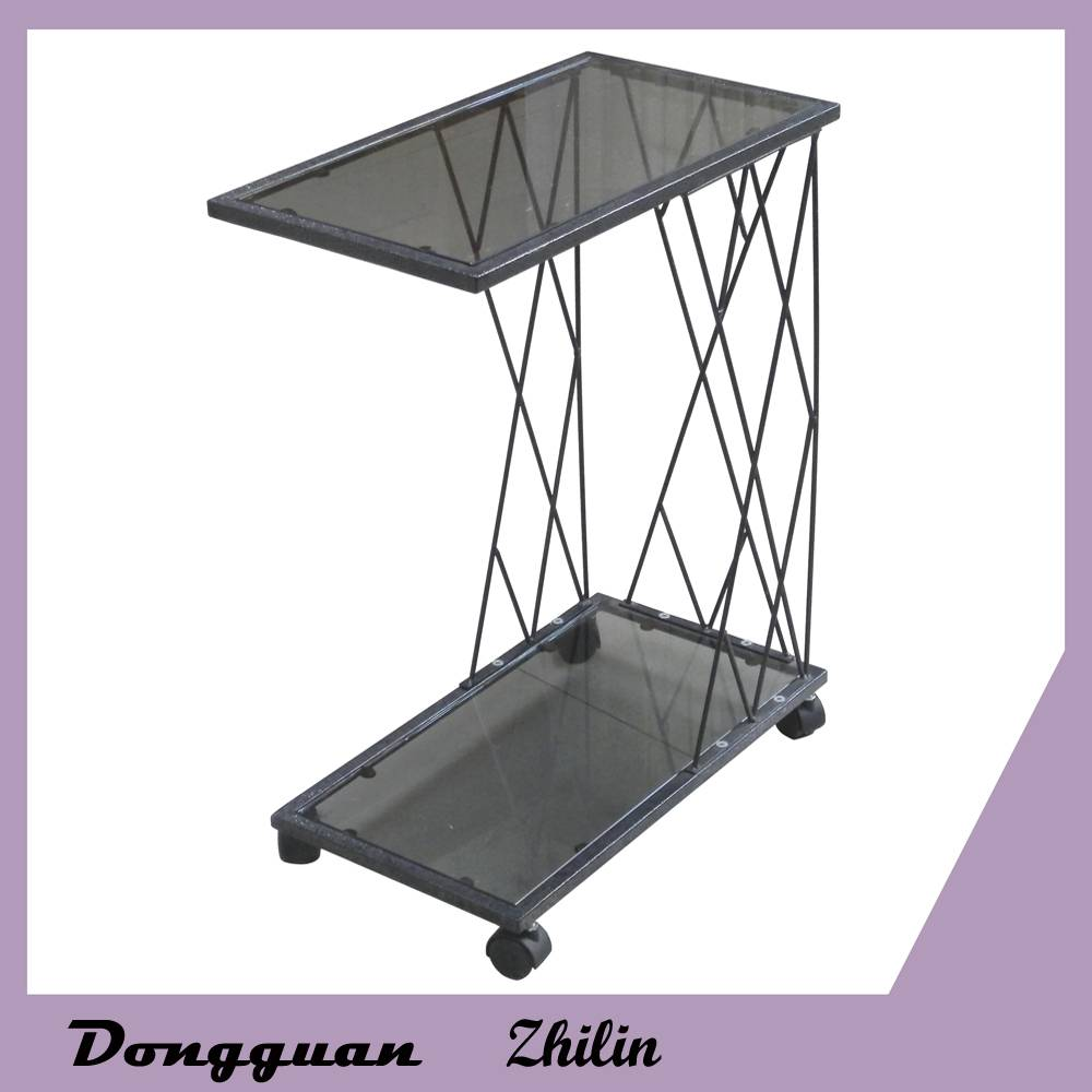 Wholesale removable metal glass coffee table