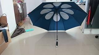 Manual Straight Umbrella Black Plated Frame