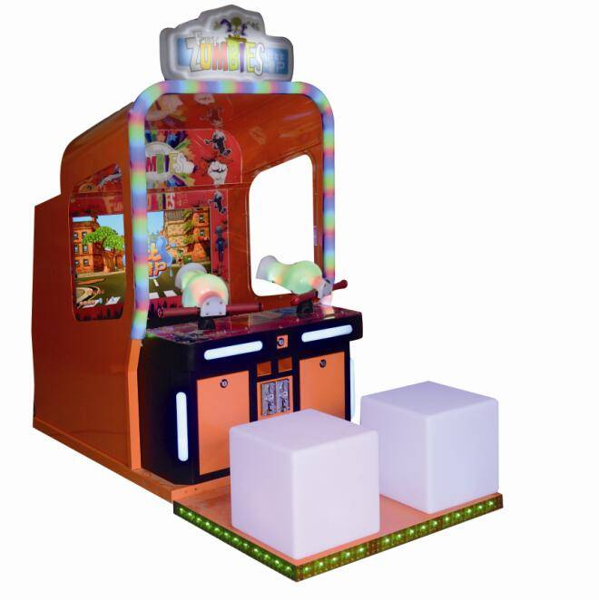 kids play water shooting game machine