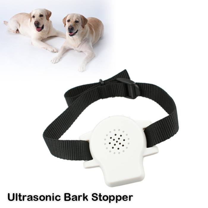 Ultrasonic Anti bark stop collar device with Customized Audio Commands
