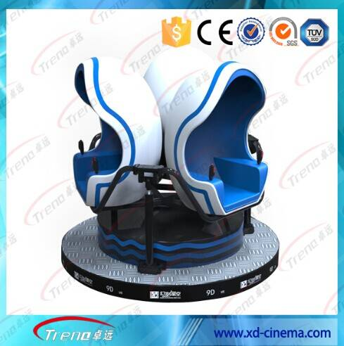 HOT sell the  amusement park equipment 3 seats with the video games cinema 9D VR