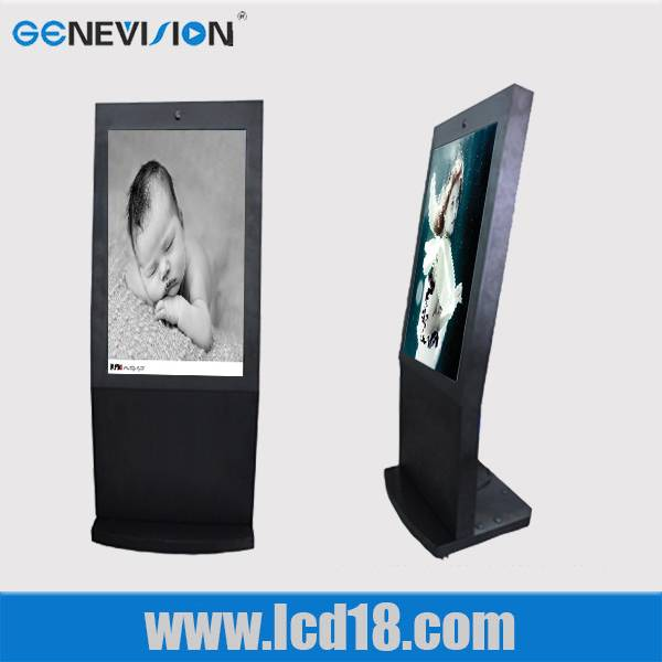 "47"" floor standing digital signage LED advertising player with golden colour"