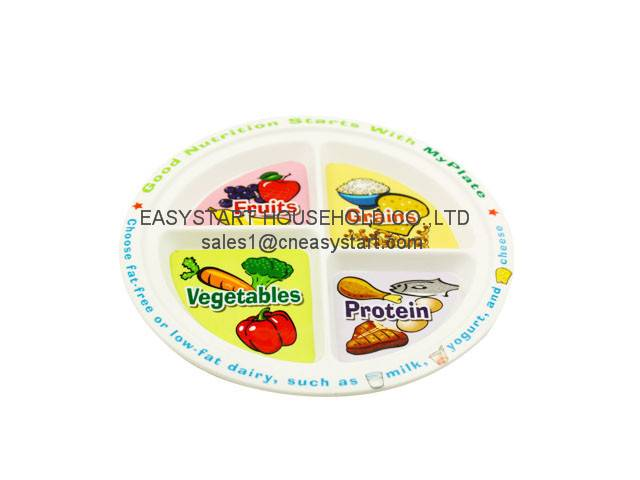 Plastic Plate, Divided Dinner Plate
