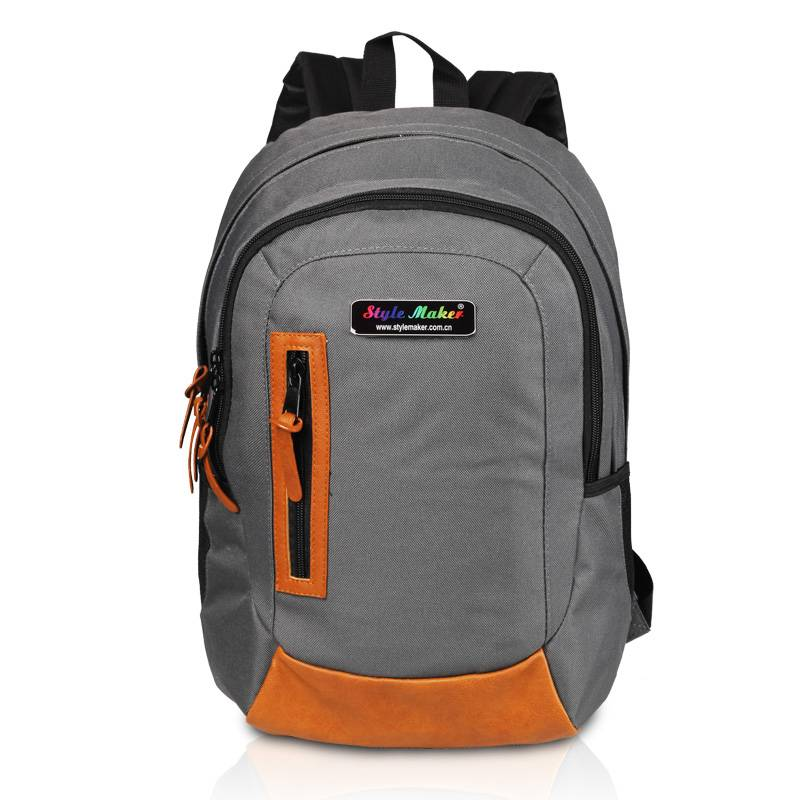 School/Sports Backpack with PU Patches GF-071