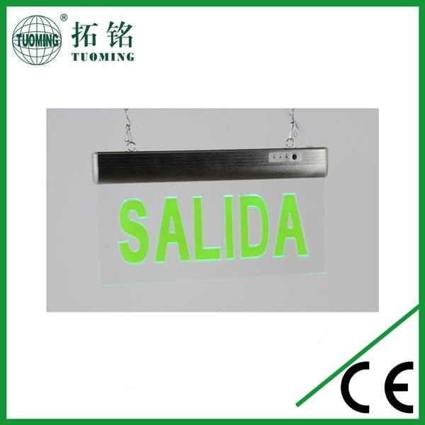 Spanish SALIDA emergencia led sign light