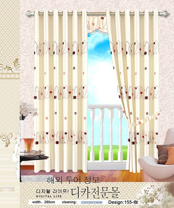 printed blackout curtain