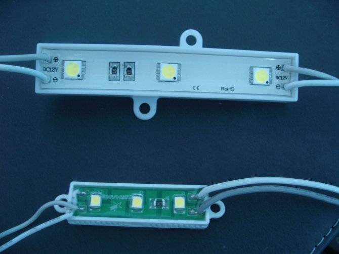 High Lumen DC12V Waterproof White color LED Module 3528 for sign board