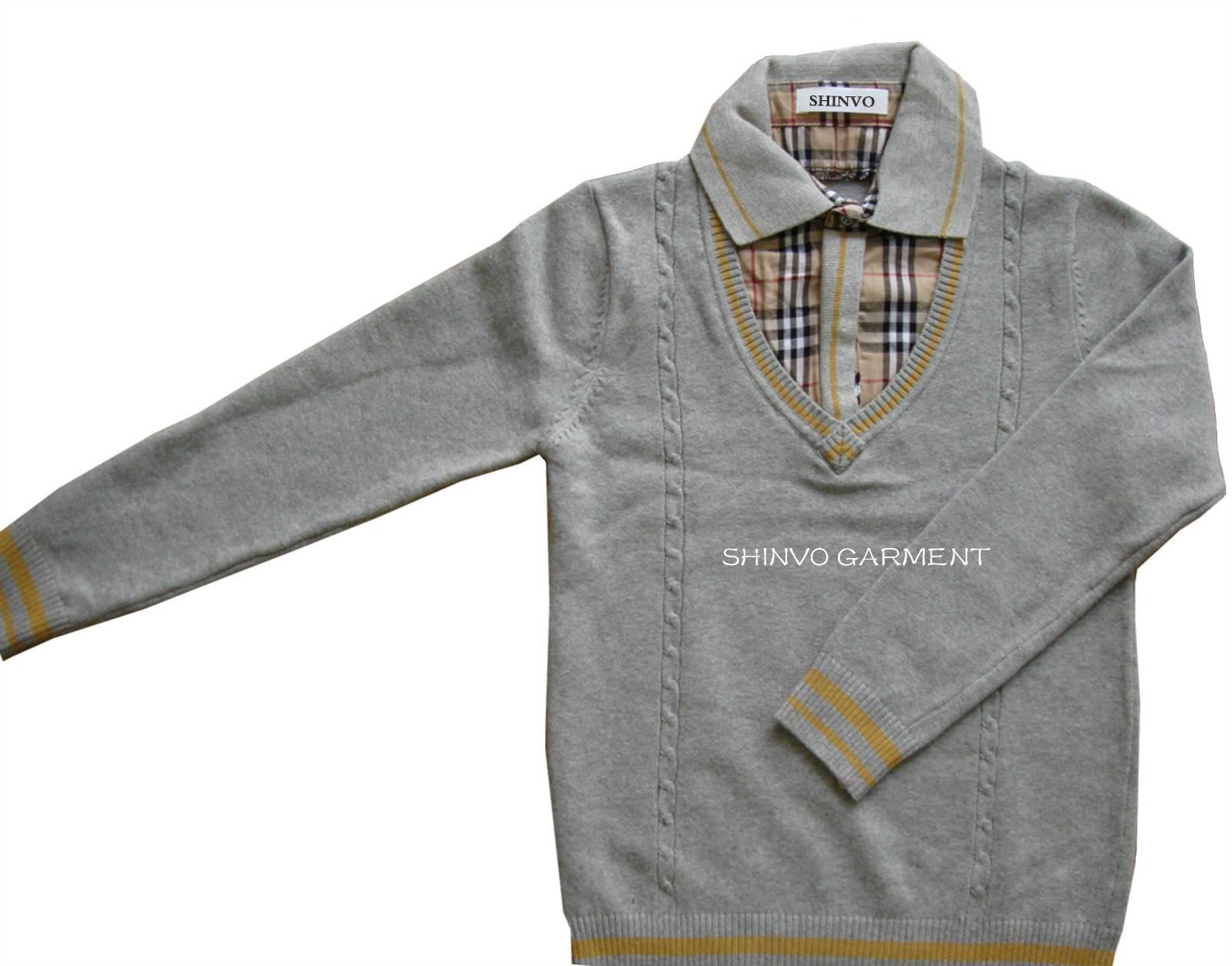 SHINVO fashion boy design knitting sweaters for kids