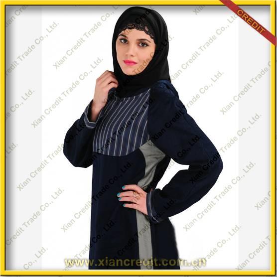 2014 Newest muslim women abaya  made of 100% polyester  KDT - 1004