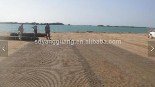 Ground stabilization Polyester Biaxial Geogrid,Geogrids price with CE certified from Taian