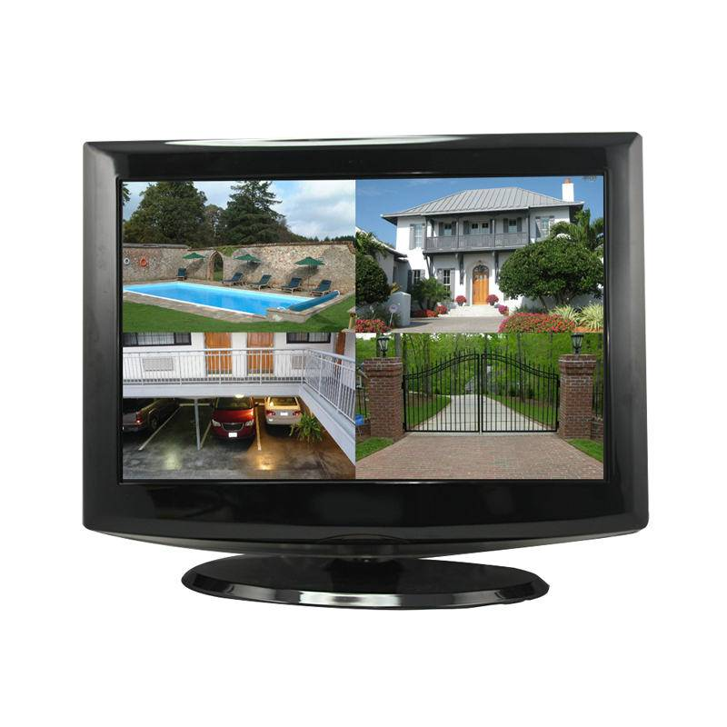 "15"" LCD Monitor Built-in 4 CH H.264 Real-time DVR - iPhone & 3G"