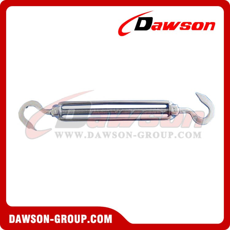 Stainless Steel US Type Hook and Hook Open Body Turnbuckle