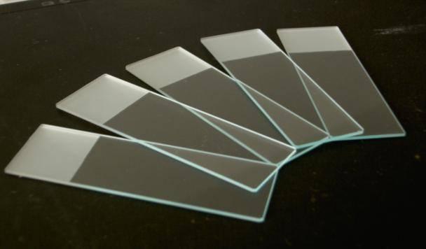 Customized quartz glass slide