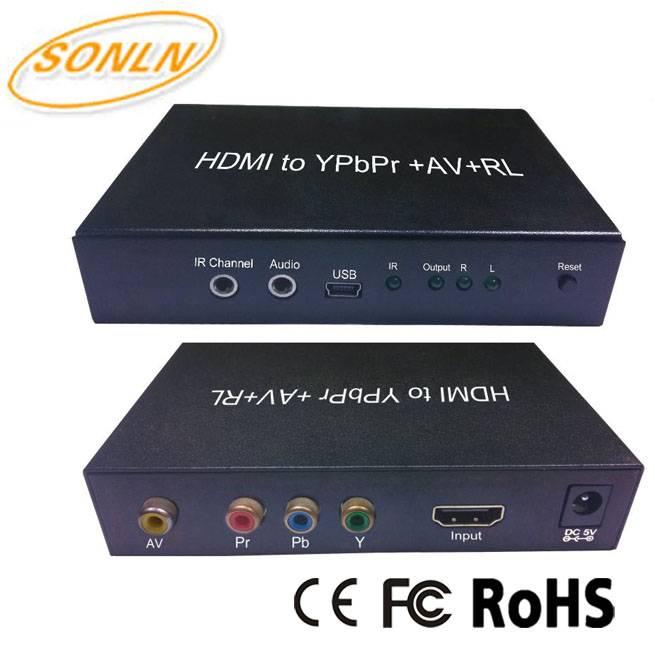 HDMI Converter HDMI to YPbPr+AV+RL