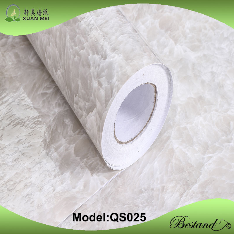 Rolls of Marble grain adhesive film paper for tables/desktops/cupboard