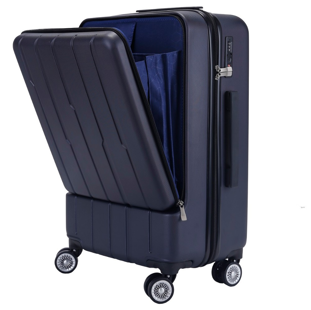 Fashionable hard shell ABS trolley luggage travel suitcase