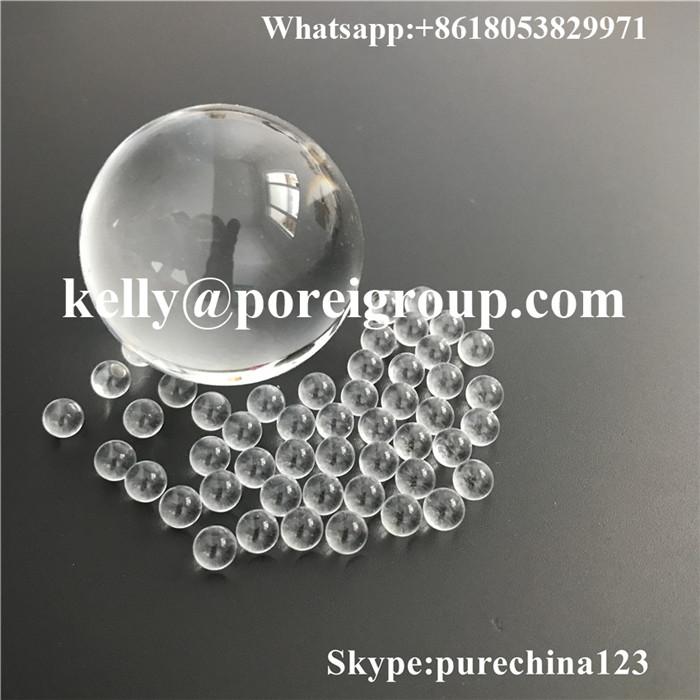 Clear borosilicate glass ball