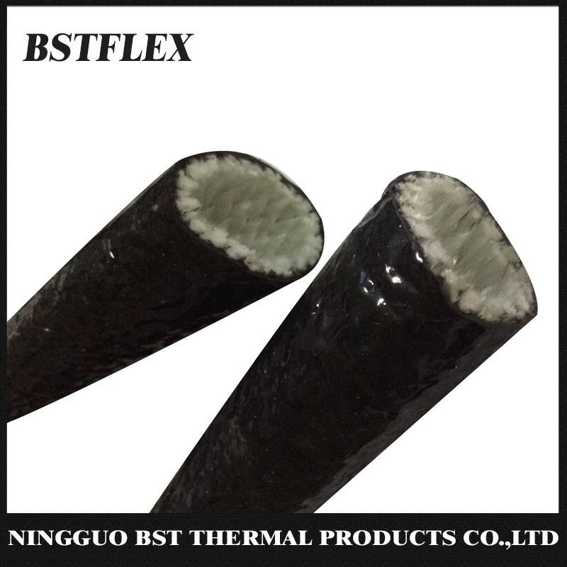 Black Silicone Coated Fiberglass Heat Sleeve