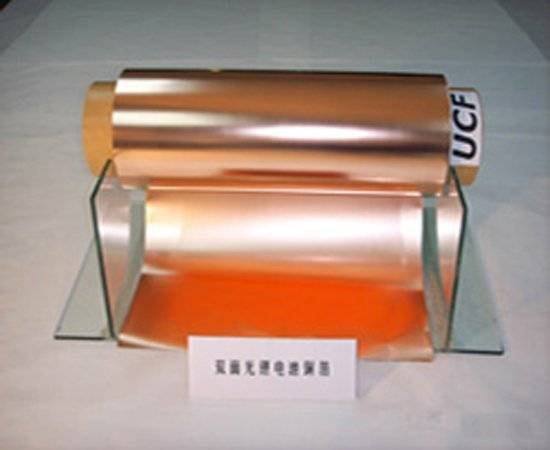 Cu foil for lithium ion battery current collector(electrode backing)
