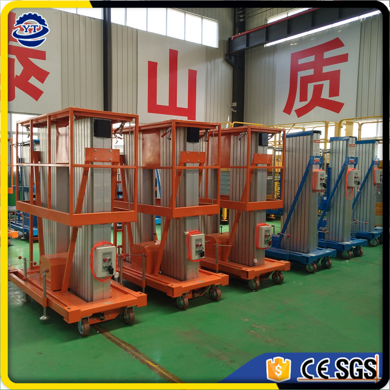 china supplier 10m aerial work aluminum alloy man lift platform with CE approved