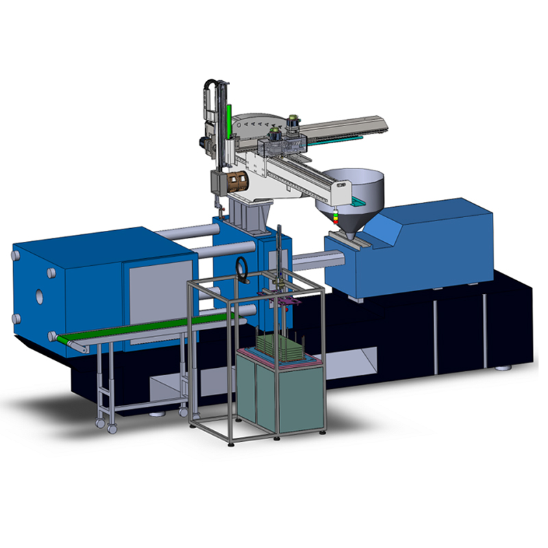 Top Entry In-mold Labeling Robot