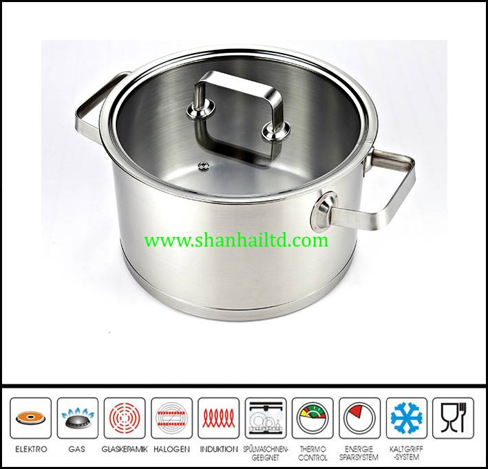 New stainless steel induction cooking stock pot