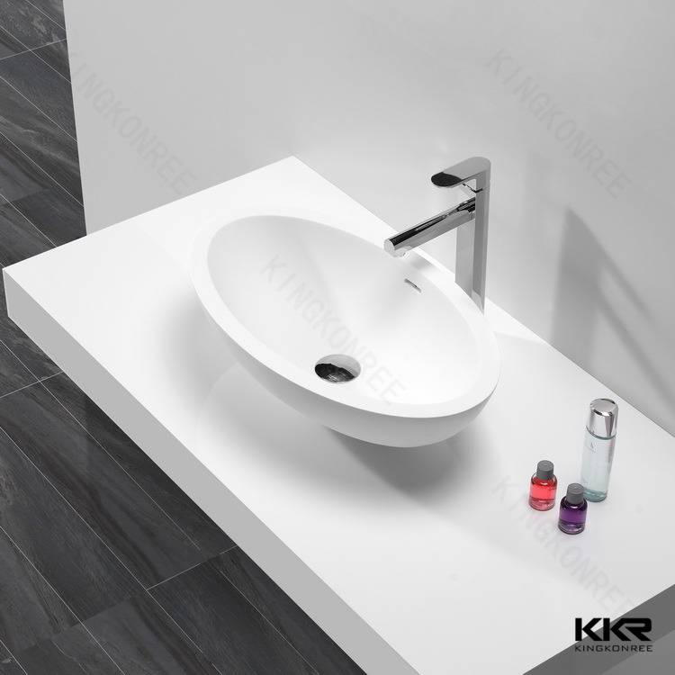 Oval shaped cheap solid surface wash basin