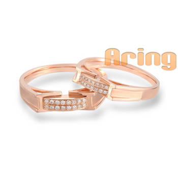 Wholesale 18k Gold Jewelry Diamonds Wedding Rings 18k pinkgold