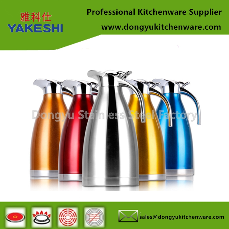 stainless steel double wall thermal coffee kettles