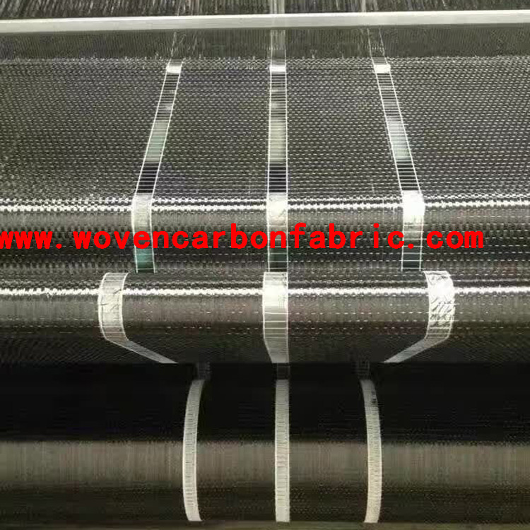 12k 200g 10cm unidirectional carbon fiber fabric for building reinforement
