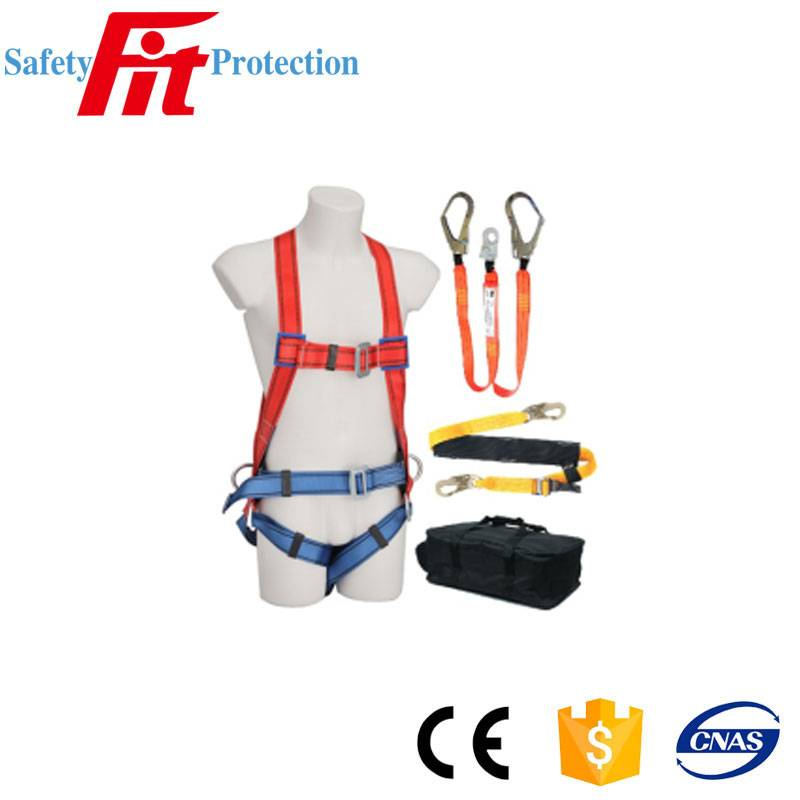 Fall Arrest Safety Harness with Lanyard