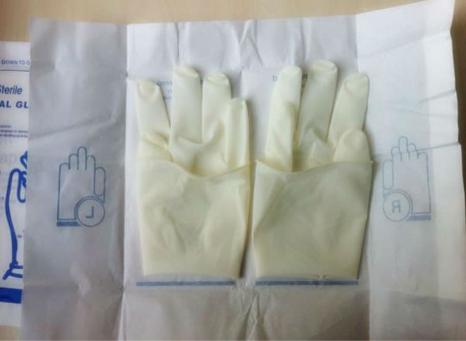 Medical Latex Surgical Gloves with powder/powder free with CE,ISO 13485