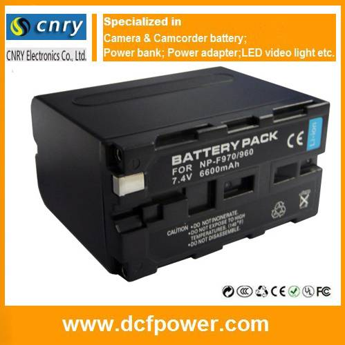 Camcorder battery NP-F970 NP-F550 NP-F750 NP-FW50 NP-FV100 NP-W126 AHDBT-401 hot sellings camera bat