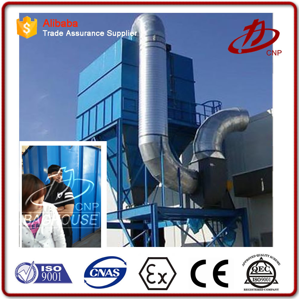 Industrial bag filter for cement clinker