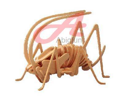 woodcraft construction kit insect Little Cricket 3D puzzle