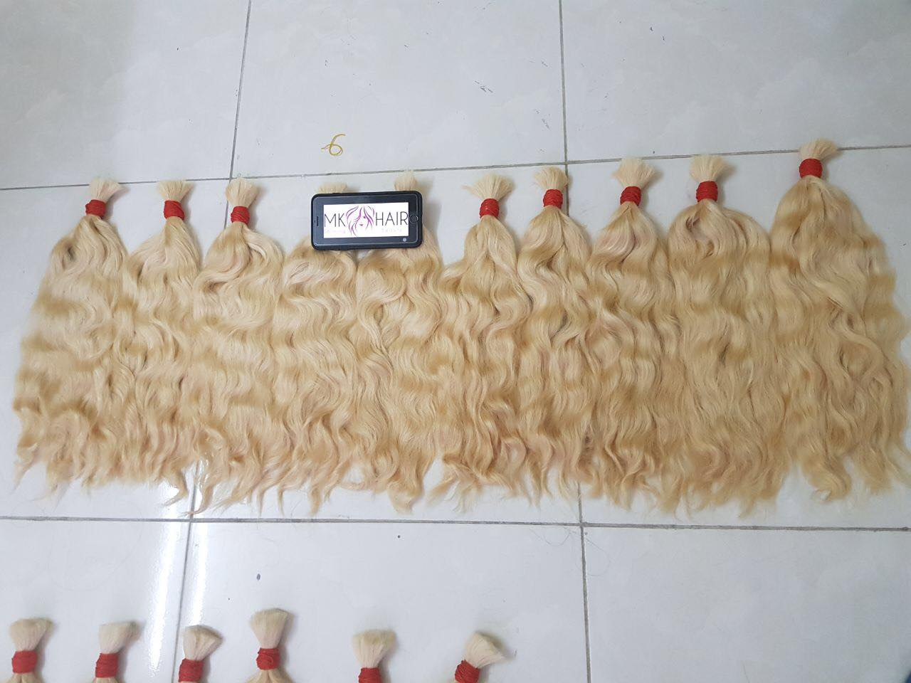 blonde bulk hair vietnamese hair 100% remy hair cheap price