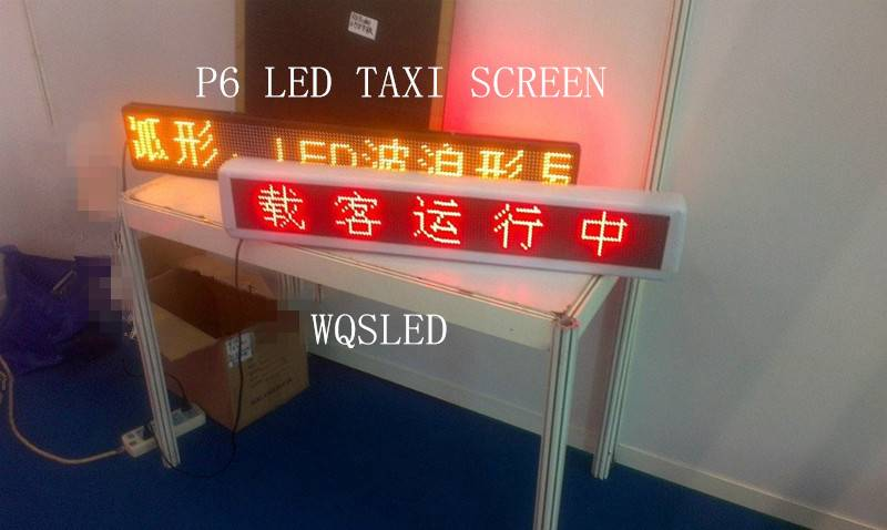 P6 WATERPROOF TAXI TOP LED SCREEN