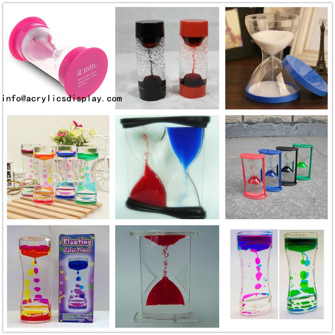 Wholesale Fashion Acrylic sand timer