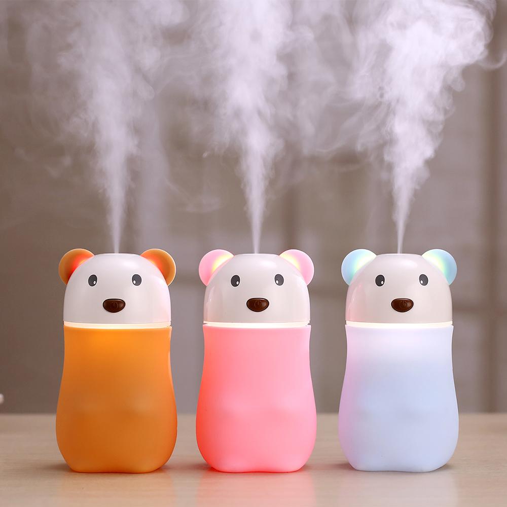 180ml Portable small bear air purifier mist fogger ultrasonic humidifier for home