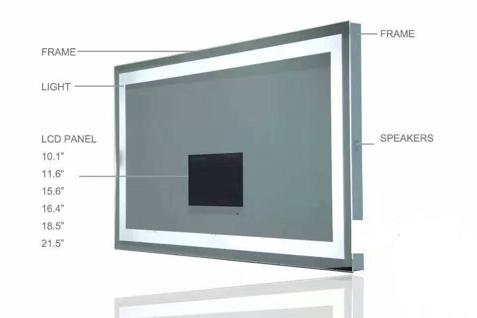 Aluminum frame mirror TV