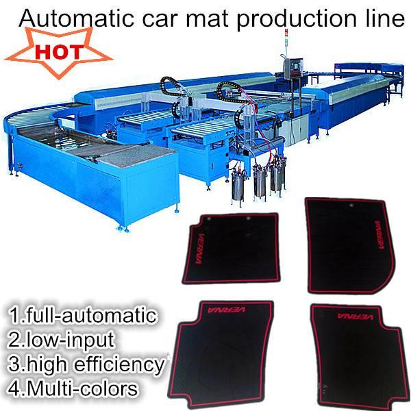 Automatic multicolor car mat machine