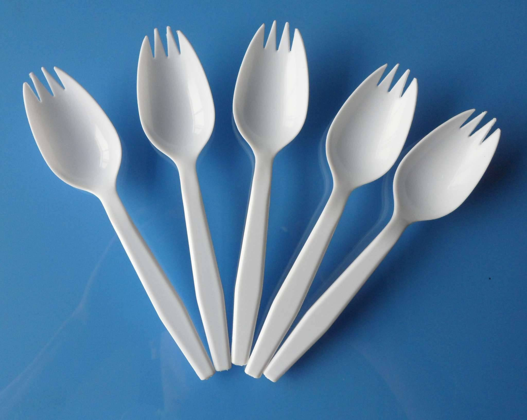 Spoon and Folk 2 in 1 Disposable Plastic Spork