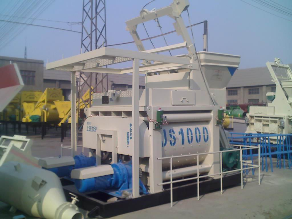 Large Productivity Twin Shaft Mixer