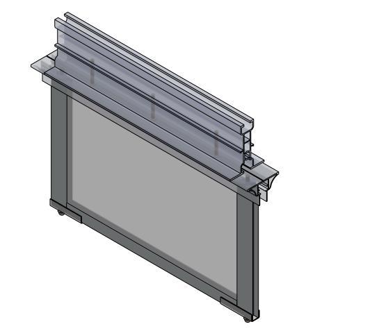 Fixed Rigid Tempered Glass Smoke Curtain