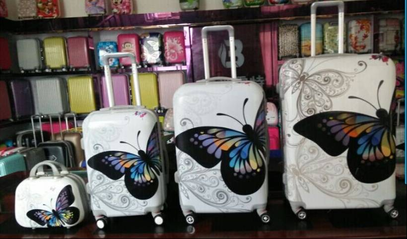 Flower Printing Haed Shell Luggage PC+ABS