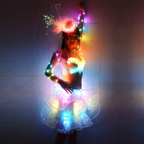 LED Belly Dance Dress Skirt