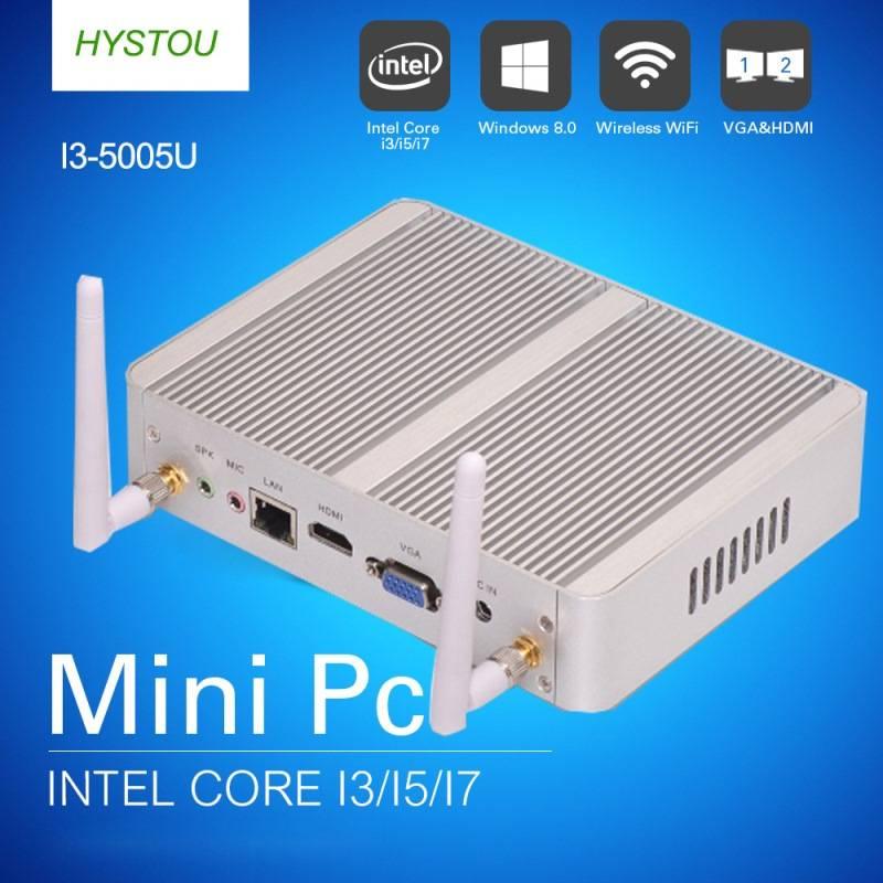 Hystou mini pc N3050 1*lan l*hdmi port Intel celeron cpu HD graphic fanless mini pc