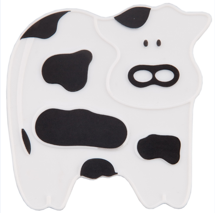 Silicone Cup Stand - Cow Printing