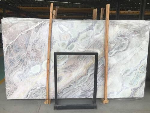 white color marble slab - dream white