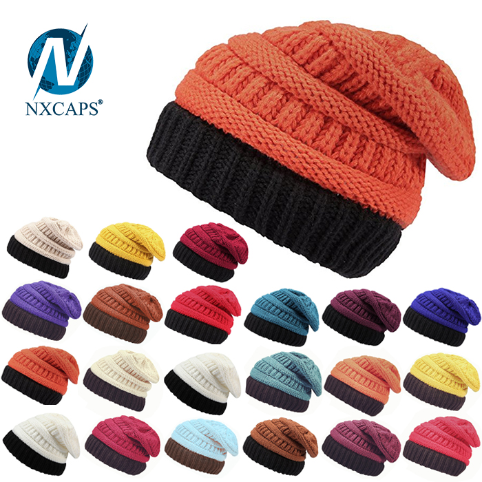Low profile merino wool beanie hat without visor hot sale blank knit Beanie hats Slouchy Beanie skii